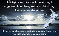 A very wise Maori saying which reminds us to recognise cultural background and history (tangata whenuatanga). Vital for establishing & building relationships.