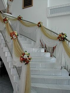 decorating a balustrade for a wedding - Google Search