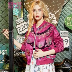 short style exotic print jacket in 2016 spring