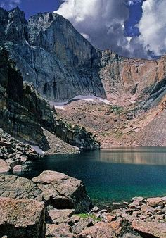 Longs Peak from Chasm Lake in Rocky Mountain National Park - Can't wait to go!