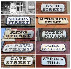 visit everywhere in bristol. btw cute Bristol's Oldest Street Signs