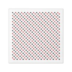 #black - #Poker Card Pattern | Clubs Diamonds Hearts Spades Paper Dinner Napkin