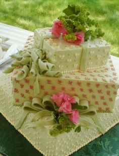 wedding shower cake by sherry