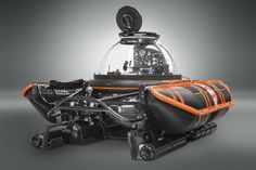 U-Boat Worx C-Explorer 2. A two Person submersible. Depth Ratings: 100, 300, 600, 1,000 metres. Accessories include manipulator arm, sub-bottom profiler and fly-out ROV.