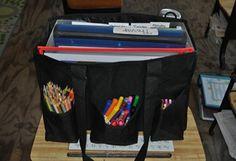 "31 Organizing Utility Tote for kids' homeschool ""lockers"""