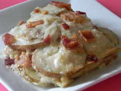 Asiago Cheese and Bacon Potatoes