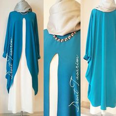 Pratik kesim tunik Islamic Fashion, Muslim Fashion, Modest Fashion, Fashion Outfits, Modest Dresses, Modest Outfits, Hijab Style Dress, Mode Abaya, Abaya Designs