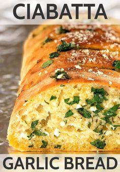 Garlic Bread At Home, Homemade Garlic Bread, Garlic Cheese Bread, Cooking Bread, Bread Baking, Bread Food, Bread Machine Recipes, Bread Recipes, Sausage Bread