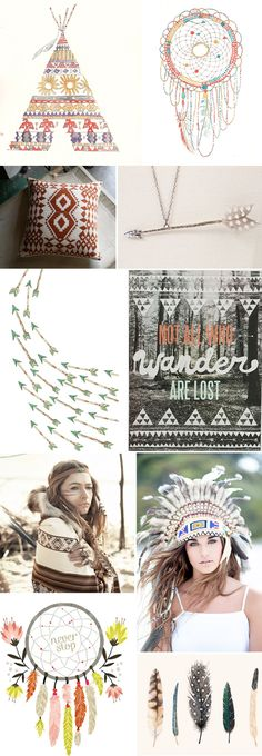 This trend seems to be growing a lot. And it's a trend with many offshoot trends, think feathers, triangles, geometic patterns, tee pees, headdresses, dream catchers, arrows and nature. I quite lik...