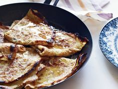 Crepe suzette: While restaurants traditionally make the buttery, orange-flavored sauce for this famous dessert tableside from start to finish, Pépin finds it easier Desserts Français, Famous Desserts, French Desserts, French Recipes, French Food, German Recipes, Plated Desserts, Crepe Suzette, Biscotti