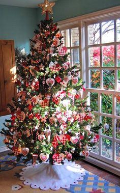 weihnachtsbaumschmuck karo muster