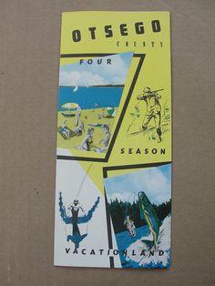 Old Brochure Otsego County Michigan Largest Deer Meatpole USA Gaylord MI   eBay