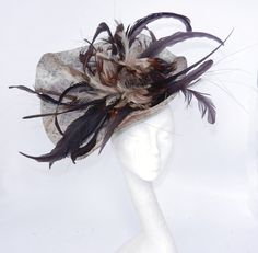 Chocolate Fascinator Hat for Weddings Occasions by Hatsbycressida, $120.00