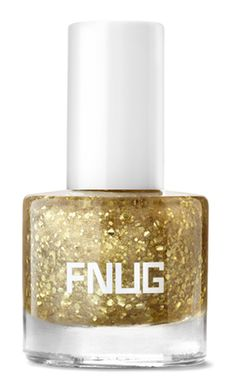 #FNUG Gold Digger / Gold Digger is more than just a top coat. Think  s-p-a-r-k-l-i-n-g golden glaze – a strengthening and protecting top coat with glitter, genuine gold particles and diamond dust that gives your nails the ultimate finish of the moment, when you can never have enough gold or glam.