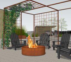 Outdoor Life, Outdoor Living, Outdoor Decor, Weekend House, Garden Edging, Entrance, Pergola, Deck, Yard
