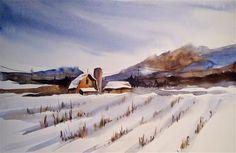 "Daily Paintworks - ""Snow demo I"" - Original Fine Art for Sale - © Kathy Los-Rathburn"