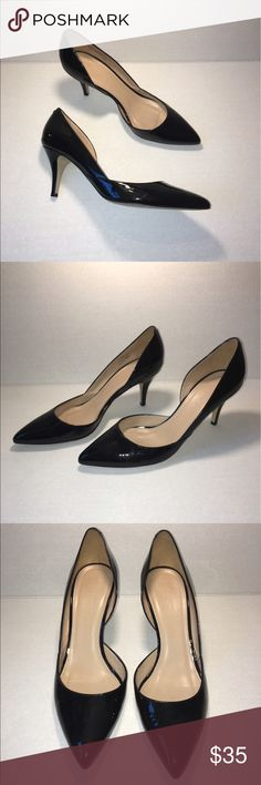 J. Crew Valentina Patent d'Orsay heel size 9.5 J. Crew Valentina Patent d'Orsay heel size 9.5. In good, but not perfect condition. There's some creasing around the toe box, and some slight knicks on the heel. Classic style and shape! J. Crew Shoes Heels