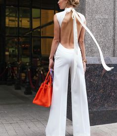 Super macacão :o♥♥♥♥♥ white outfits, white outfit party, Beauty And Fashion, Look Fashion, Passion For Fashion, Fashion Outfits, Womens Fashion, Fashion Trends, Classy Fashion, Latest Fashion, White Fashion