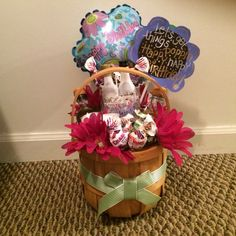 Alcohol lollipop gift basket