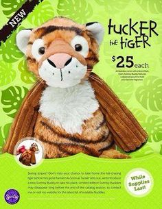 SOLD OUT !!! Just in time for Christmas ~ TUCKER THE TIGER Scentsy Buddy ~ comes with your choice of Scent Pak https://spollreisz.scentsy.us