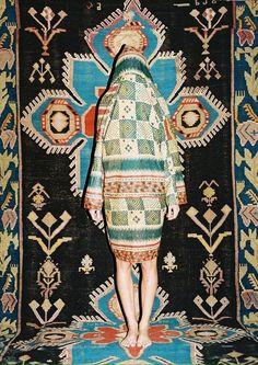 Kimono short-coat plaid / LASHA DEVDARIANI