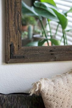 24x30 Reclaimed Wood Bathroom Mirror - Rustic Modern Home Decor - Framed Mirror - Wood Mirror - Hurd and Honey - Home Decor by HurdandHoney on Etsy https://www.etsy.com/listing/179938478/24x30-reclaimed-wood-bathroom-mirror