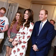 Prince William, Duke of Cambridge and Catherine, Duchess of Cambridge meet athletes during a reception for Team GB's Olympic and Paralympic athletes, hosted by Britain's Queen Elizabeth II, at Buckingham Palace on October 18, 2016.