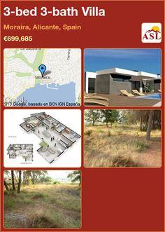 3-bed 3-bath Villa in Moraira, Alicante, Spain ►€699,685 #PropertyForSaleInSpain