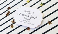 Wedding Favor Tags Thank You Wedding Tags by DiyCraftyScraps