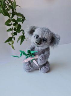 Stuffed Koala Koala Bear Amigurumi Koala Crochet Bear | Etsy