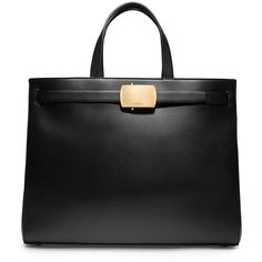 Calvin Klein Women's Calf Large Tote With Roller Buckle (9.705 BRL) ❤ liked on Polyvore featuring bags, handbags, tote bags, black, handbags tote bags, handbags totes, calvin klein, calvin klein handbags and calvin klein tote bag