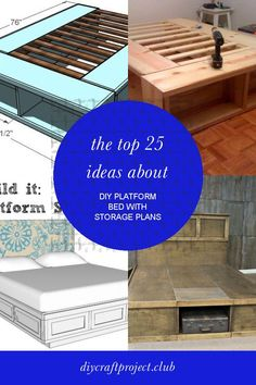 The top 25 Ideas About Diy Platform Bed with Storage Plans - Best DIY Crafts Ideas Collection Build A Platform Bed, Platform Bed With Drawers, King Size Platform Bed, Best Platform Beds, Platform Bed Frame, Diy Storage Bed, Bed Frame With Storage, Diy Bed Frame, Craft Storage