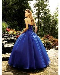 vestido de princesa azul