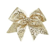 Gold Sparkle Cheer Bow