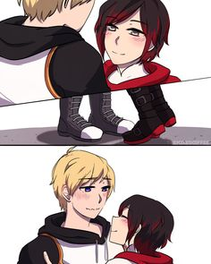 Commision I did for someone's fic (of the same name) this is actually a scene from it where Ruby cutes her way into getting what she wants, which is ice. Lancaster : Committed To The Act Rwby Anime, Rwby Fanart, Star Wars Clone Wars, Star Wars Art, Anime Harem, Rwby Jaune, Rwby Rose, Rwby Weiss, Rwby Comic