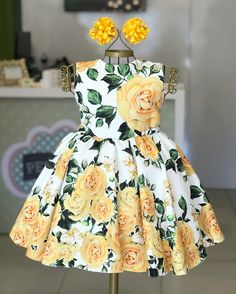 2019 Infant Toddler Kids Girl Flower Casual Party Birthday Dresses One-Piece Costumes, Ropa de niña, Baby Girl Dress Patterns, Baby Dress Design, Dresses Kids Girl, Ladies Dress Design, Kids Outfits, Kids Frocks, Girl Sleeves, Latest African Fashion Dresses, Toddler Dress