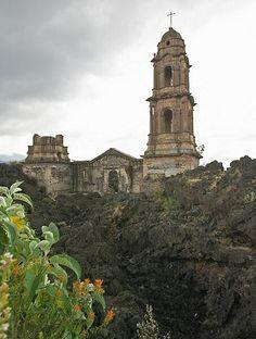 Paricutin Church Ruins- Angahuan, Michoacan, Mexico