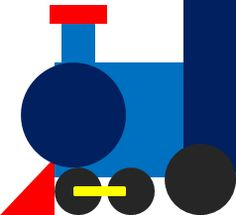 train shapes craft..Little Engine that Could