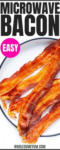 Other Meat Recipes, Bacon Recipes, Seafood Recipes, Low Carb Recipes, Microwave Bacon, Microwave Recipes, Low Carb Breakfast, Breakfast Recipes, Recipe With 10 Ingredients