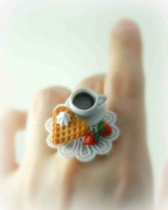 Cute polymer clay ring