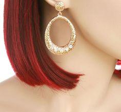 Gold Drop Earrings Price $6.99