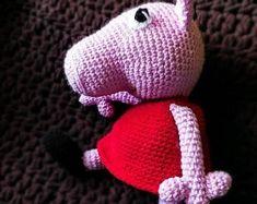 Peppa pig, crochet, handmade