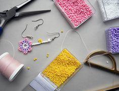 Billedresultat for diy perleørering Diy Earrings, Pearl Earrings, Little Miss Sunshine, Diy Fashion, Diy Jewelry, Jewerly, Bling, Beads, Creative