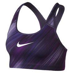 c567545e57 Nike Women s Pro Classic Swoosh Light Streak Sports Bra (Vivid Purple Dark  Iris White