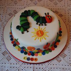 Very hungry caterpillar birthday cake