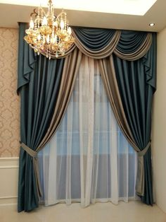 Elegant draperies with swags Curtains And Draperies, Luxury Curtains, Home Curtains, Hanging Curtains, Window Curtains, Valances, Drapery, Classic Curtains, Elegant Curtains
