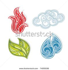 Stock Images similar to ID 92339143 - the four elements of nature ...