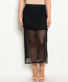 Take a look at this Black Mesh Skirt - Plus today!