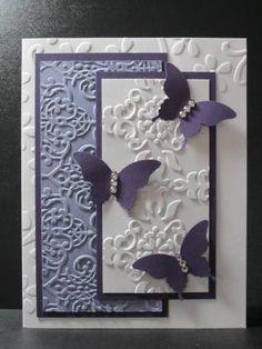 butterfly purple embossing folders