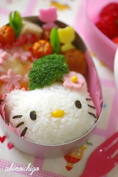 Make this Hello Kitty rice ball easily http://www.bossnotin.com/household-Living-hobbies-novelties-party-sports-fitness-kitchen-dining-bedding-bath-garden-landscaping/Kitchen-Dining/Hello-Kitty-Rice-and-Egg-Mold